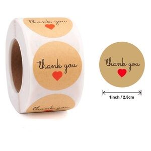 500 Thank You Stickers